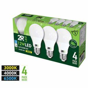 Λάμπα LED γλόμπος Α60, E27, 12W, 1080lm, SET 4τεμ.