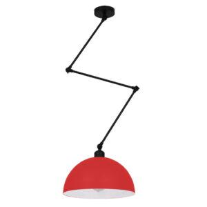 Μοντέρνο Φωτιστικό Οροφής Μονόφωτο Κόκκινο Ματ Μεταλλικό Καμπάνα περασμένο με ηλεκτροστατική βαφή