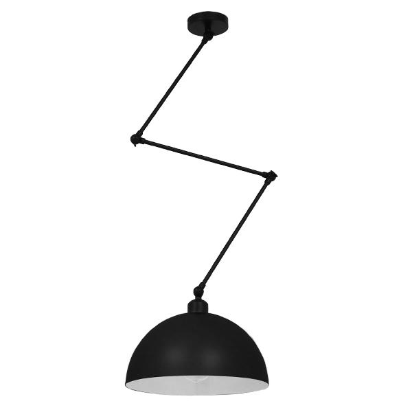 Μοντέρνο Φωτιστικό Οροφής Μονόφωτο Μαύρο Ματ Μεταλλικό Καμπάνα περασμένο με ηλεκτροστατική βαφή