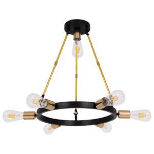 Μοντέρνο Φωτιστικό Οροφής Πολύφωτο Μαύρο Χρυσό Μεταλλικό SAILOR, περασμένο με ηλεκτροστατική βαφή