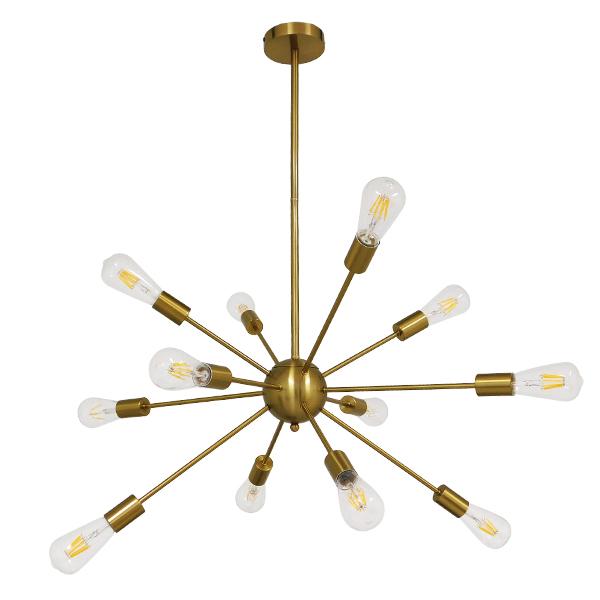 Μοντέρνο Φωτιστικό Industrial Οροφής Πολύφωτο Χρυσό Μεταλλικό MILANO με χρυσή ανάρτηση, περασμένο με ηλετροστατική βαφή.