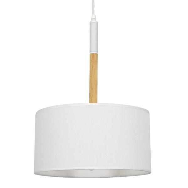 Μοντέρνο Φωτιστικό Οροφής Μονόφωτο Μεταλλικό με Λευκό Καπέλο BRONX SERIES