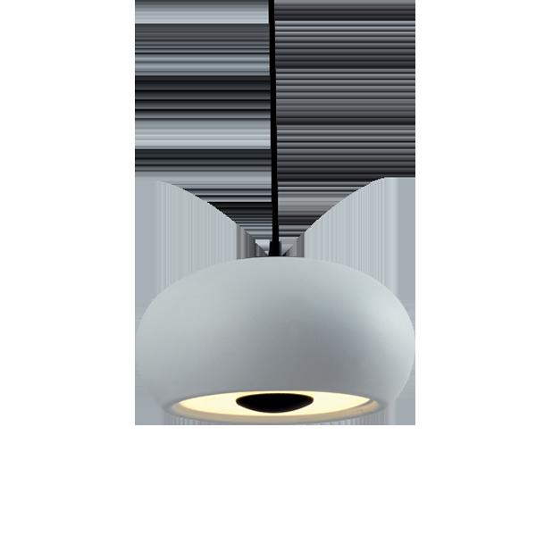 Μοντέρνο LED Κρεμαστό Φωτιστικό, 21W, Θερμό Φως, HENDRIX PENDANT Black & White