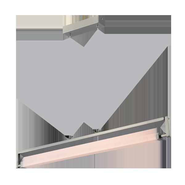 Μοντέρνο LED Γραμμικό Φωτιστικό, 23W, Θερμό Λευκό, LINUS PENDANT Silver