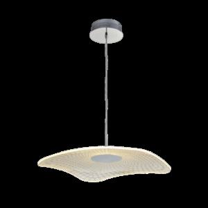 Μοντέρνο LED Κρεμαστό Φωτιστικό, 19W, θερμό Φως, OWEN LED PENDANT Chrome