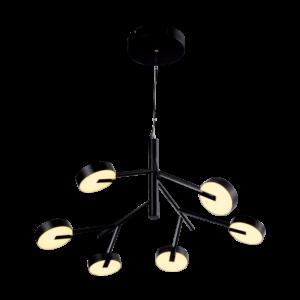 Μοντέρνο LED Κρεμαστό Φωτιστικό, 50W, Θερμό Φως, SENSO PENDANT Matte Black