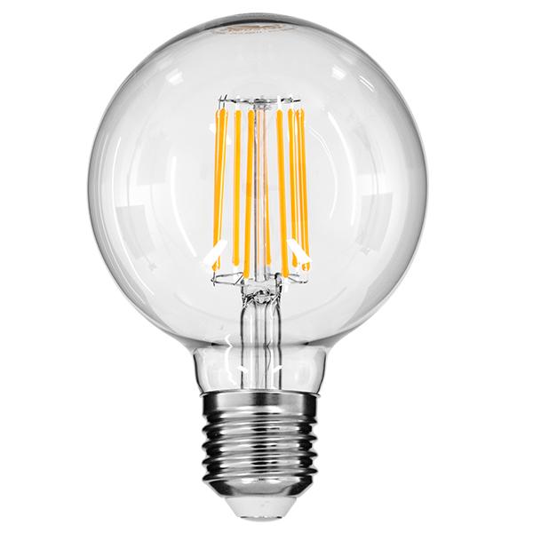 H συγκεκριμένη λάμπα Led Filament έχει την δυνατότητα αυξομείωσης της έντασης φωτισμού με κλασσικό Led Dimmer AC-TRIAC.