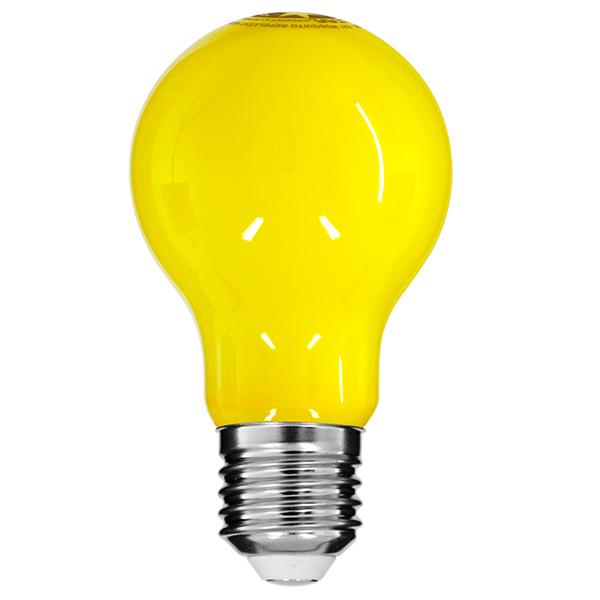 Αντικουνουπική Λάμπα Filament Γλόμπος με Κίτρινο Γυαλί, E27, 8W 700lm