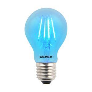 Λάμπα Led Color Filament Γλόμπος A60 με διάφανο γυαλί, E27, 4W, 120lm