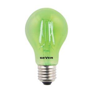 Λάμπα Led Color Filament Γλόμπος A60 με διάφανο γυαλί, E27, 4W, 300lm, Πράσινο