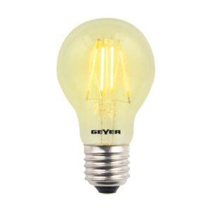 Λάμπα Led Color Filament Γλόμπος A60 με διάφανο γυαλί, E27, 4W, 300lm, Κίτρινο