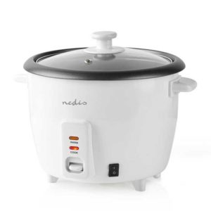 Βραστήρας ρυζιού 0,6L, σε λευκό χρώμα